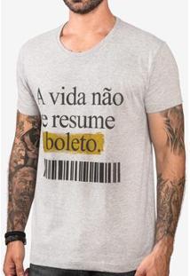 Camiseta Hermoso Compadre Gola Careca Masculina - Masculino-Cinza