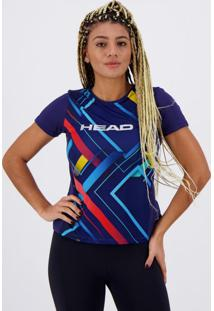 Camiseta Head Line Cross Feminina Marinho