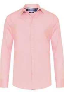 Camisa Masculina Social Brilho - Rosa