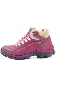 Coturno Atron Shoes Adventure 019 Feminino Bordô