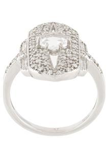 V Jewellery Anel 'Shield' - Metálico