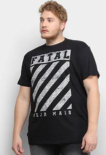 Camiseta Fatal Seja Mais Plus Size Masculina - Masculino-Preto