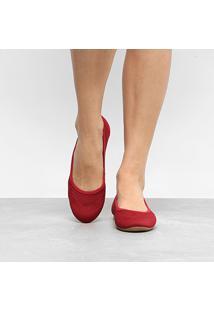 Sapatilha Dakota Elástico Malha Feminina - Feminino-Vermelho