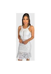 Vestido Curto De Festa Boutelle Branco Renda Bojo