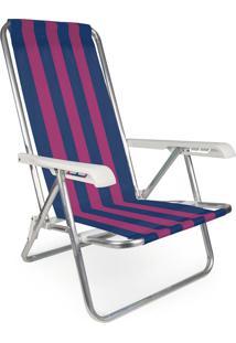 Cadeira Reclinável Alumínio 4 Posições 2231 Mor
