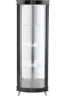 Cristaleira Corner Cor Laca Preto Semi-Brilho 43 Cm (Larg) - 37350 - Sun House