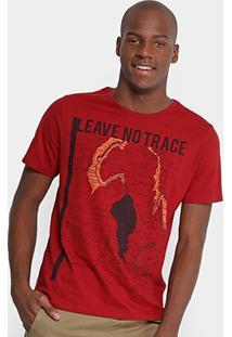 Camiseta Burn Leave No Trace Masculina - Masculino-Vinho