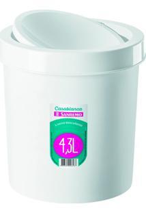 Lixeira Basculante De Plástico 4,3 Litros Branca