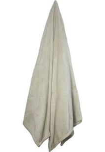 Cobertor Velour Neo Em Microfibra King Size- Bege Claro