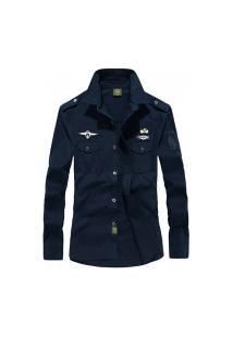 Camisa Masculina Air Force - Azul
