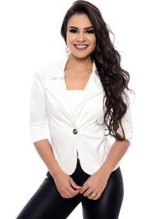 Blazer Nathalia Freitas Melinda Off-White