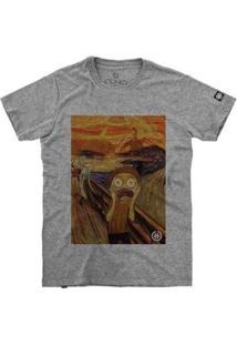 Camiseta Stoned O Grito Morty Masculina - Masculino-Cinza