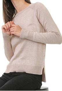 Blusa Calvin Klein Tricot Mullet Bege