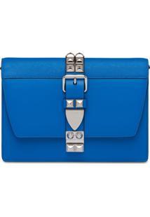 Prada Bolsa Tiracolo Elektra - Azul