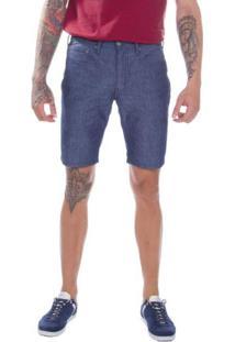 Bermuda Jeans Levis Masculina 511 Slim Hemmed Azul Média Azul
