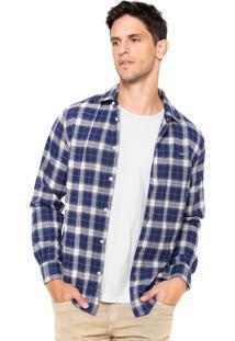 Camisa Colcci Flanela Xadrez Azul