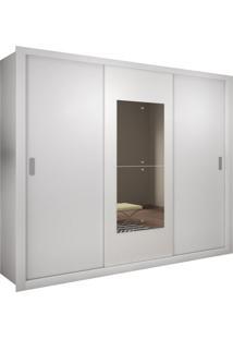 Roupeiro Veneza Premium 3 Portas Branco Rufato Móveis