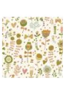 Papel De Parede Adesivo - Flores E Corações - 061Ppn