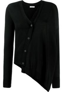P.A.R.O.S.H. Draped Style Cardigan - Preto