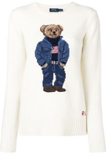 Polo Ralph Lauren Suéter 'Teddy Bear' De Lã - Neutro