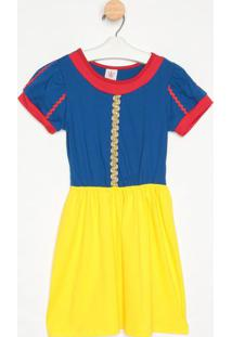 Camisola Branca De Neve - Azul & Amarela- Masquerademasquerade