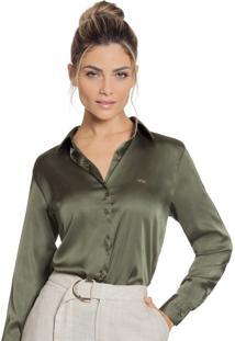 Camisa Principessa Daiana Verde