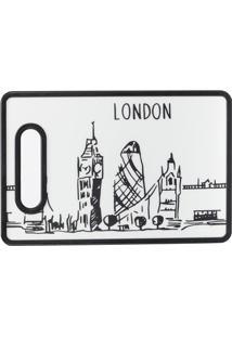 Tábua De Corte London 20X30Cm Preta E Branca