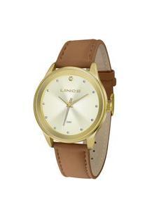 Relógio Feminino Lince Analógico Lrcj090L C1Mx Dourado