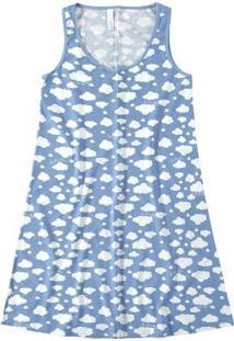 Camisola Azul Claro Feminina Estampada Coalas