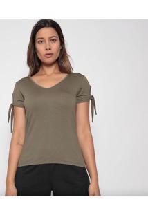 Blusa Lisa Com Amarraã§Ãµes- Verde Militar- Arsenalarsenal