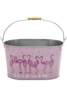 Balde De Gelo Flamingos- Rosa Claro & Rosa Escuro- 1Ludi
