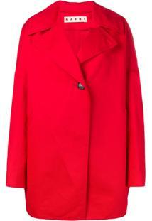 Marni Jaqueta Com Botão Único - Vermelho