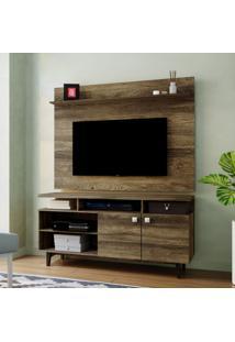 Rack Com Painel Para Tv Até 47 Polegadas Maia Canela 135 Cm