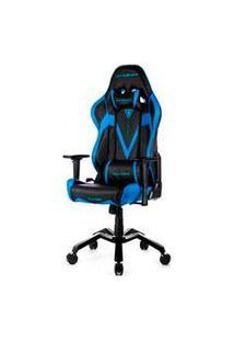 Cadeira Valkyrie Giratória E Reclinável Preta E Azul - Dxracer