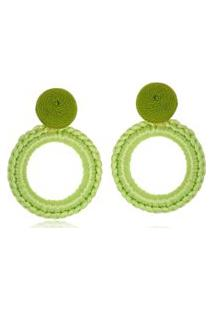 Brinco Le Diamond Carminha Crochê Verde