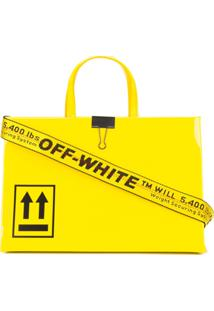 Off-White Bolsa Tote Arrow Com Estampa - Amarelo