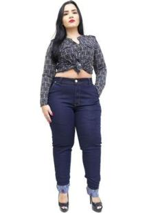 Calça Jeans Latitude Plus Size Skinny Aylla Feminina - Feminino