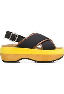 Marni Sandália Com Plataforma - Preto