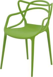 Cadeira Allegra Em Polipropileno Cor Verde - 44937 - Sun House