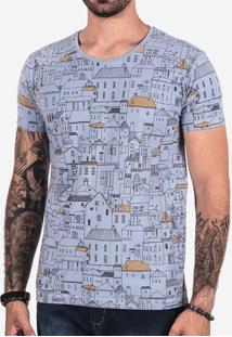 Camiseta Houses Azul 102503