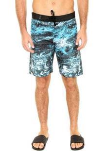 Boardshort Hurley Água Water Falow Masculina - Masculino-Azul
