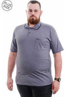 Polo Kairon Plus Size Cinza