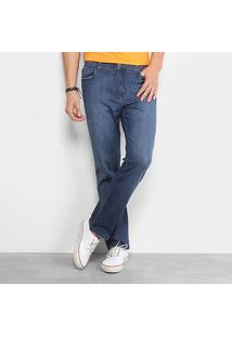 Calça Jeans Reta Ellus Comfort Flame Straight Masculina - Masculino-Azul Escuro