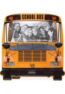 Porta Retrato Ônibus Escolar Decorando Com Classe Amarelo
