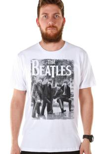Camiseta Bandup The Beatles Hey Whats That Branca