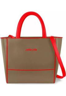 Bolsa Petite Jolie Tote Daily Bag Express Bicolor Feminina - Feminino-Marrom