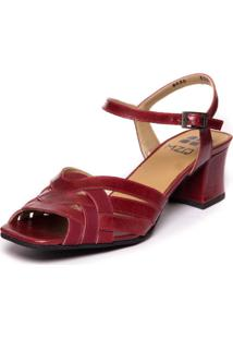 Sandalia Vermelha Brigitte - Amora / Marsala 5392