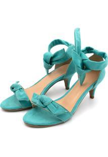 Sandália Salto Fino Flor Da Pele Jade - Kanui