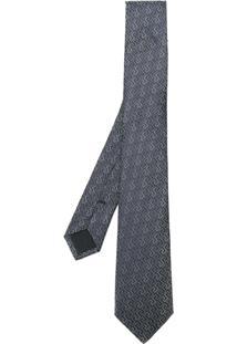 Versace Gravata De Seda Com Bordado - Azul
