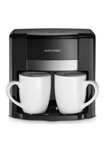 Cafeteira Elétrica Multilaser 220V 500W 2 Xícaras + Colher Dosadora + Filtro Permanente Preta - Be010 Be010